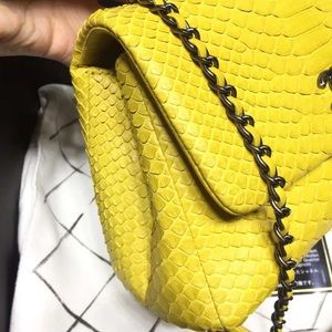 CHANEL Bags - Chanel Coco handle small python skin bag
